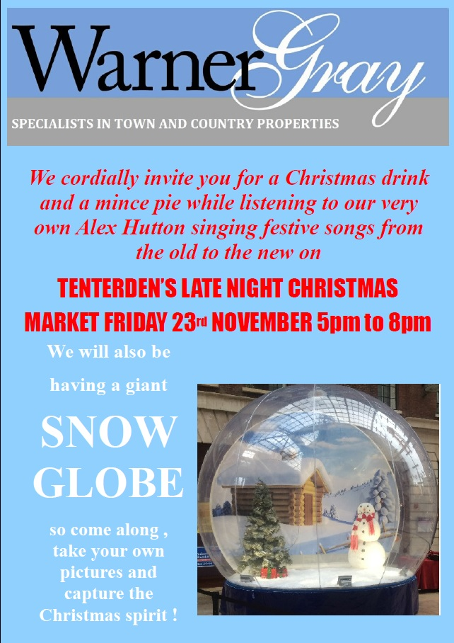 The snow globe is coming to town !